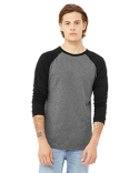 3000C Bella + Canvas Men's Jersey Long-Sleeve Baseball T-Shirt