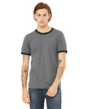 3055C Bella + Canvas Men's Jersey Short-Sleeve Ringer T-Shirt