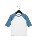3200T Bella + Canvas Toddler 3/4-Sleeve Baseball T-Shirt