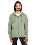 321Z Threadfast Apparel Unisex Triblend French Terry Full-Zip