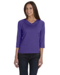 3577 LAT Ladies' Premium Jersey 3/4-Sleeve T-Shirt