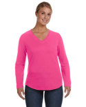 3761 LAT Ladies' V-Neck French Terry Pullover
