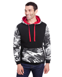 3967 Code Five Men's Fashion Camo Hooded Sweatshirt
