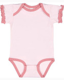 4429 Rabbit Skins Infant Ruffle Bodysuit