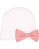 4453 Rabbit Skins Infant Baby Rib Bow Cap