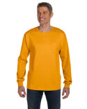 5596 Hanes Men's 6.1 oz. Tagless® Long-Sleeve Pocket T-Shirt