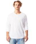 6007C2 Alternative Adult Organic Raglan Long Sleeve Henley T-Shirt