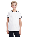 6132 LAT Youth Soccer Ringer Fine Jersey T-Shirt