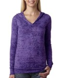 6521 Next Level Ladies' Burnout Hoody