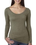 6731 Next Level Ladies' Triblend Long-Sleeve Scoop