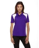 75066 Ash City - Extreme Ladies' Eperformance™ Colorblock Textured Polo