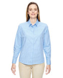 77044 Ash City - North End Ladies' Align Wrinkle-Resistant Cotton Blend Dobby Vertical Striped Shirt