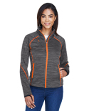 78697 North End Ladies' Flux Mélange Bonded Fleece Jacket
