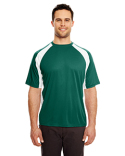 8421 UltraClub Adult Cool & Dry Sport Two-Tone Performance Interlock T-Shirt