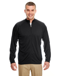 8432 UltraClub Adult Cool & Dry Sport Quarter-Zip Pullover with Side Panels
