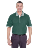 8537 UltraClub Adult Color-Body Classic Piqué Polo with Contrast Multi-Stripe Trim