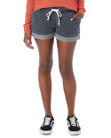8630F Alternative Ladies' Lounge Burnout French Terry Shorts