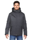 88209 Ash City - North End Men's Rivet Textured Twill Insulated Jacket