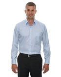 88646 Ash City - North End Men's Wrinkle-Free Two-Ply 80's Cotton Taped Stripe Jacquard Shirt