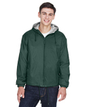 8915 UltraClub Adult Fleece-Lined Hooded Jacket