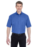 8977 UltraClub Adult Short-Sleeve Whisper Twill