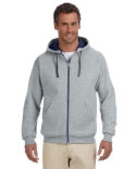 93CR Jerzees Adult 8 oz. NuBlend® Contrast Full-Zip Hood