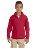 995Y Jerzees Youth 8 oz. NuBlend® Quarter-Zip Cadet Collar Sweatshirt