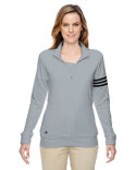 A191 adidas Golf Ladies' climalite 3-Stripes Full-Zip