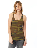 AA1927P Alternative Ladies' Meegs Printed Racerback Eco-Jersey™ Tank