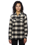 B5210 Burnside Ladies' Plaid Boyfriend Flannel Shirt