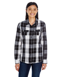 B5222 Burnside Ladies' Long-Sleeve Plaid Pattern Woven Shirt