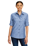 B5255 Burnside Ladies Chambray Woven Shirt