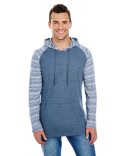 B8127 Burnside Adult Striped Sleeve Raglan Jersey