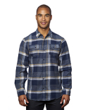 B8219 Burnside Men's Snap-Front Flannel Shirt