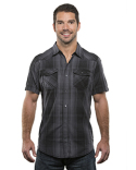 B9206 Burnside Men's Plaid Pattern Western Woven