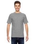 BA7100 Bayside Adult Short-Sleeve T-Shirt with Pocket
