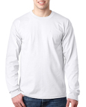 BA8100 Bayside Adult Long-Sleeve T-Shirt with Pocket