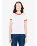 BB310W American Apparel Ladies' Poly-Cotton Ringer T-Shirt