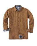 BP7006T Backpacker Men's Tall Canvas Shirt Jacket with Flannel Lining