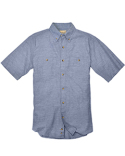 BP7019 Backpacker Men's Slub Chambray Short-Sleeve Shirt