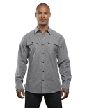 BU8200 Burnside Men's Solid Flannel Shirt