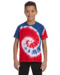 CD100Y Tie-Dye Youth 5.4 oz., 100% Cotton Tie-Dyed T-Shirt