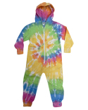 CD892Y Tie-Dye Youth All-in-One Loungewear