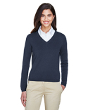 D475W Devon & Jones Ladies' V-Neck Sweater