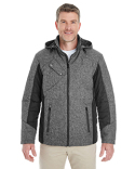 DG710 Devon & Jones Men's Midtown Insulated Fabric-Block Jacket with Crosshatch Mélange