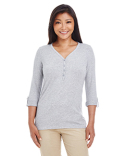 DP186W Devon & Jones Ladies' Perfect Fit™ Y-Placket Convertible Sleeve Knit Top