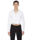 F397W American Apparel Ladies' Cropped Flex Fleece Zip Hoodie