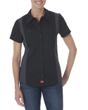 FS524 Dickies Ladies' Industrial Short-Sleeve Color Block Shirt