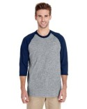 G570 Gildan Adult 5.3 oz. 3/4-Raglan Sleeve T-Shirt