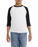 G570B Gildan Youth 5.3 oz. 3/4-Raglan Sleeve T-Shirt